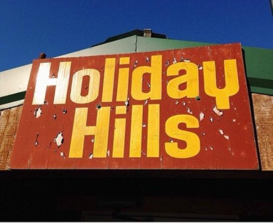 Holiday Hills Resort: signage
