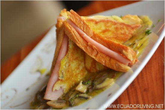 Luna Runtun, Adventure SPA: Luna Runtun: tasty grilled ham & cheese sandwich