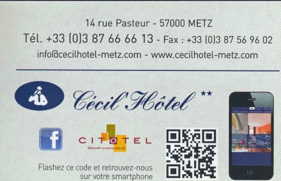 Citotel Cecil Hotel : carte