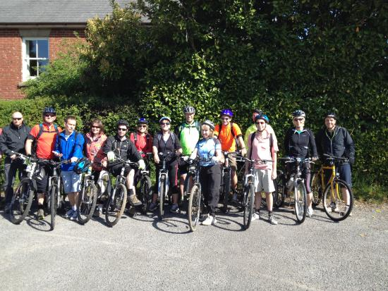 New Forest National Park Hampshire, UK: Bike Group ready for New Forest