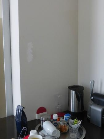 A Small Hotel: The paint coming off and holes