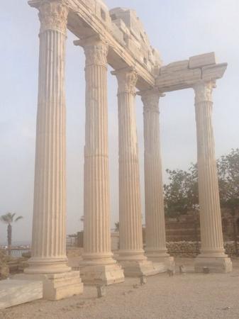 Hotel Golden Star: античные колонны, на которые наткнетесь если выйдите из ретсорана отеля налево и пойдете гулять