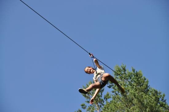 Ида-Вирумаа, Эстония: Zip-lines in Alutaguse adventure park