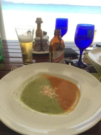 Blue: Good gazpacho comes with to die for views