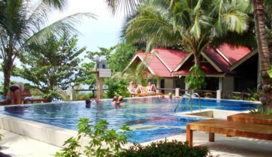 Penny's Bungalow Resort: The pool, (view from the room)
