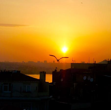 Galata Homes: Bosporus sunset view