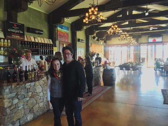 The Road Less Travelled Wine Tours: Dennis and I at Laurance