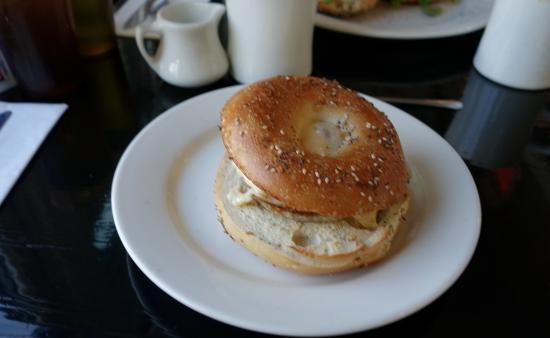 Slice of Life : Everything bagel sandwich