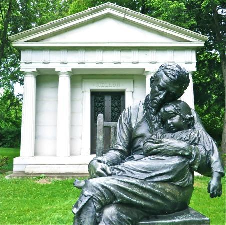 Homewood Cemetery: Mellon mausoleum & statue