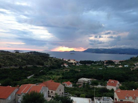 Apartments Zvrko: One of many beautiful sunsets from our balcony.