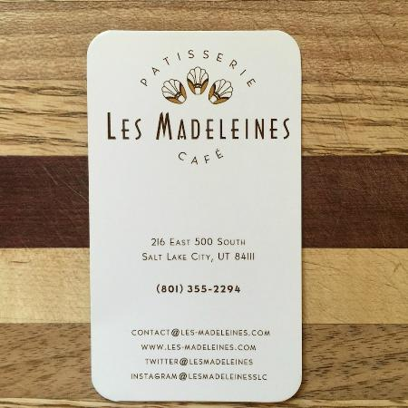 Les madeleines business card with hours contact picture of les les madeleines business card with hours contact colourmoves