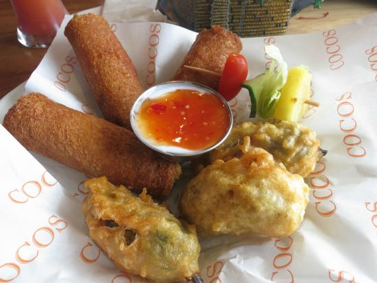 Cocos: Rollups and chillie poppers