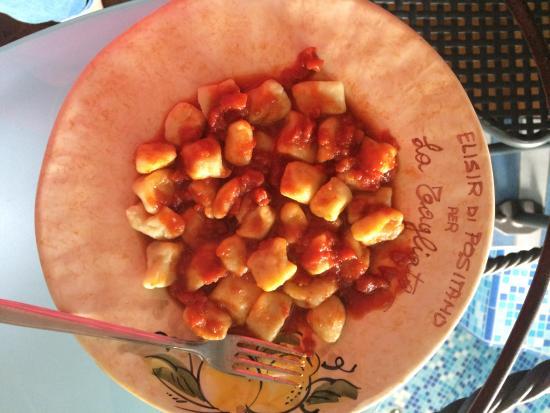 La Tagliata: Gnocchi and tomato sauce we made at the cooking class