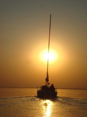 Ilha Solteira, SP: Um belo fim de tarde.
