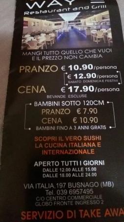 Busnago, Italia: Prezzi