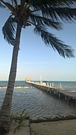 Pelican Reef Villas Resort: Private beach and dock