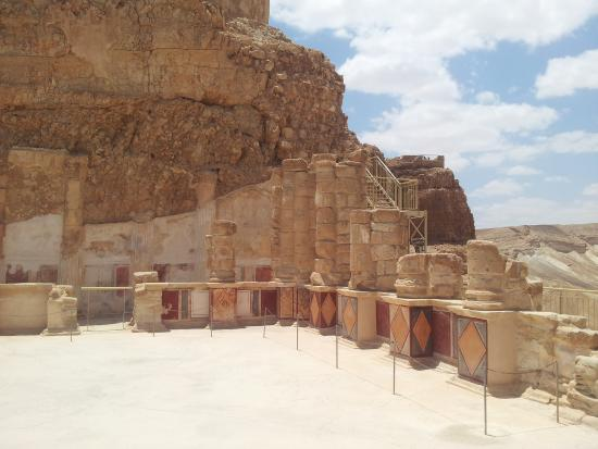 Masada National Park: The lower northern palace