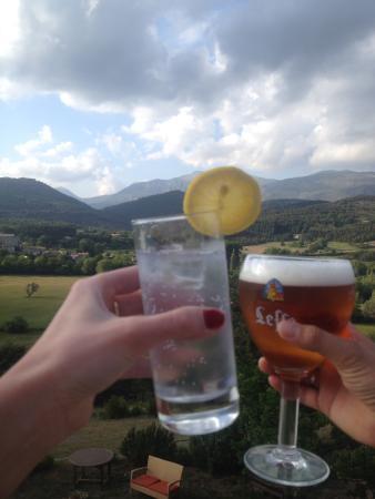 Hotel & Spa des Gorges du Verdon : Drinks with a view