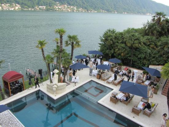 Swiss Diamond Hotel Lake Lugano Vista Panoramica Lago Piscina