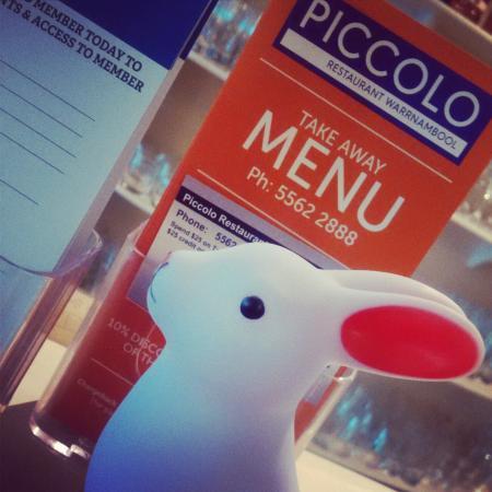 Piccolo Restaurant Warrnambool Menu