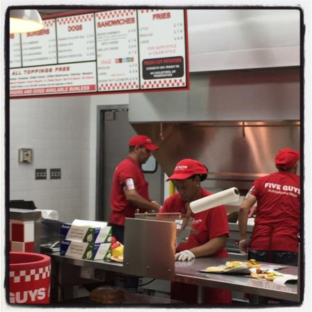 Kitchen Staff At Work Picture Of Five Guys Dulles