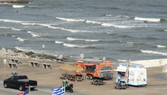 Holiday Inn Resort Galveston On The Beach Food Trucks At Seawall