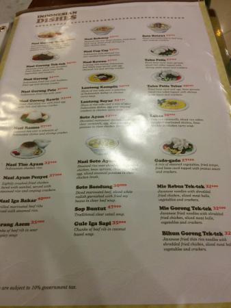 Menu makanan di Rasa Bakery & Cafe, Bandung