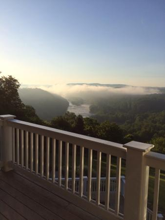 Pearisburg, VA: Early morning view from our room