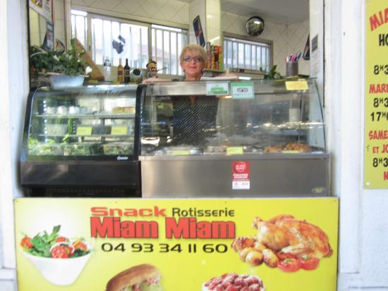 Miam Miam : Tiny take out store on the corner of Ernest Mace in Antibes