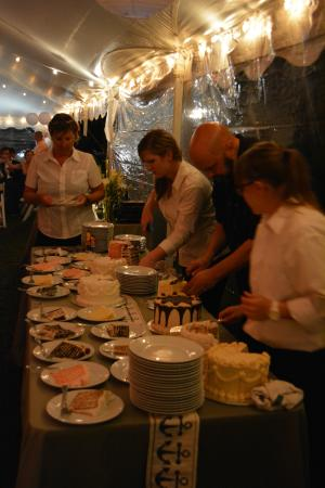 Two If By Sea: The crew working the cakes!