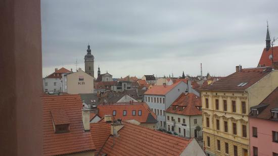 Hotel Budweis: View from hallway window
