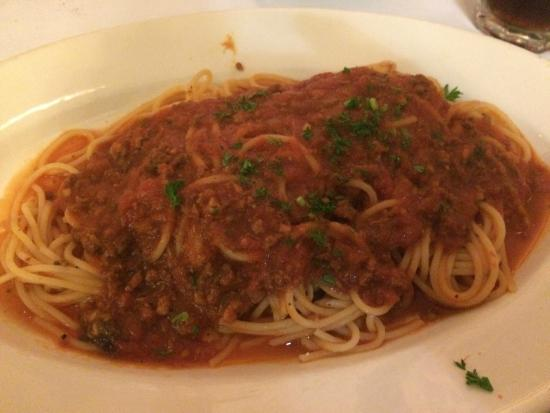 Forlini's Restaurant: Spaghetti with Meat Sauce
