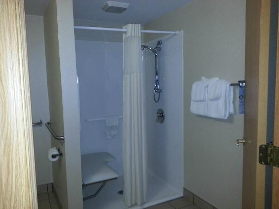 Quality Inn Chillicothe: Good size...and clean walk in shower.