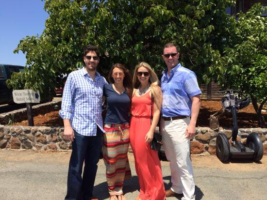 Segway of Healdsburg : Our group at the first winery, Christopher Creek