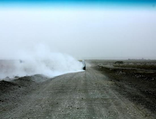 Lake Natron Tented Camp: Dusty road to Natron