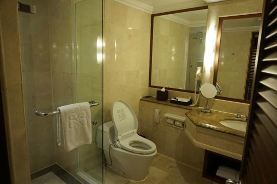 Hilton Bali Resort: the washroom in our room