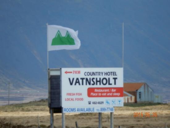 Vatnsholt: Hotel sign