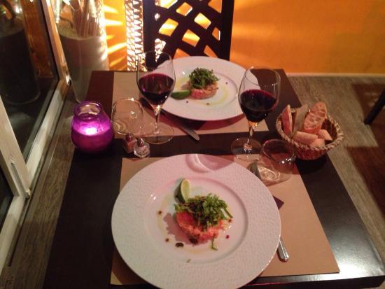 petit repas en amoureux photo de restaurant le marin. Black Bedroom Furniture Sets. Home Design Ideas