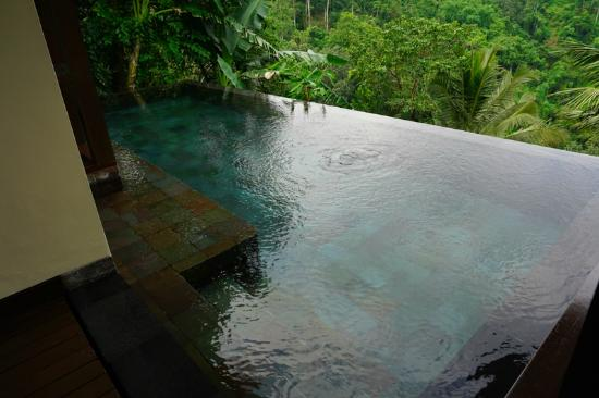 Payangan, Indonesien: our private infinity pool in the room