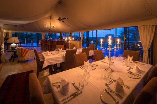 The elephant camp victoria falls zimbabwe hotel for Dining room suites zimbabwe