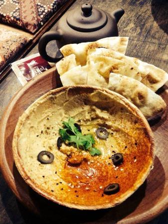 Petaling District, Malaysia: Babaghanush Dip with Fresh Flat bread