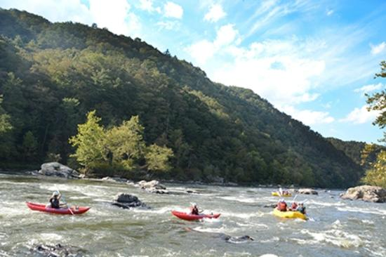 Blue Heron Whitewater rafting offers duck trips down the French Broad River