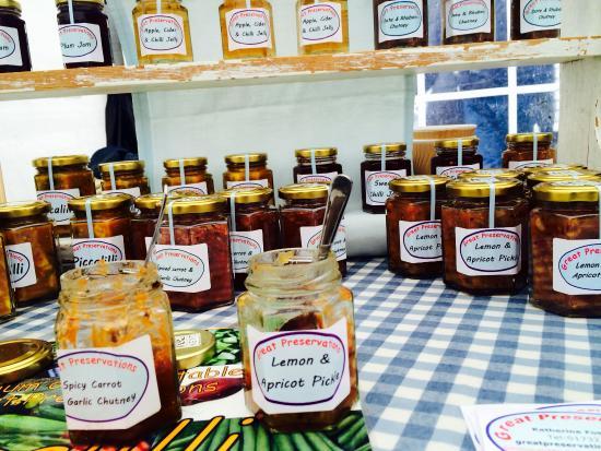 Ash, UK: Great Preservations - Jam & chutney stall