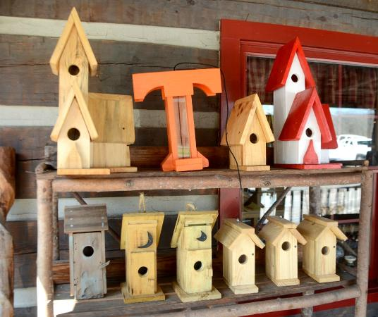 Apple Valley Cafe: You'll find our birdhouses on the deck.