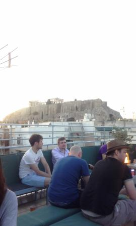 Athens Backpackers: La terraza