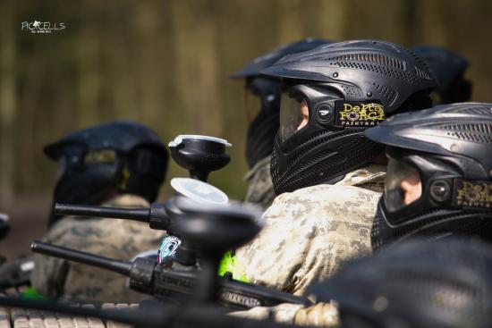 Delta Force Paintball Cardiff: Mini Paint Ballers on the target..