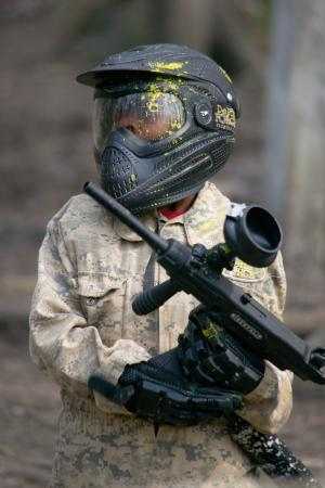 Delta Force Paintball Cardiff: Paintball caught on the point of Impact