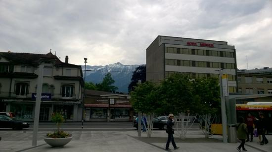 MyHotel Merkur: Hotel Merkur in the backdrop of the Alps