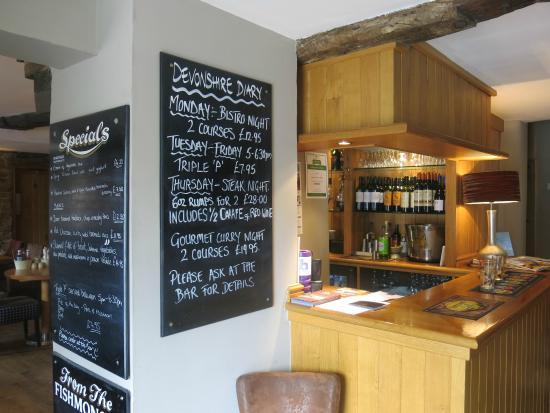 The Devonshire Arms at Pilsley - Restaurant: Bar no longer for sitting at