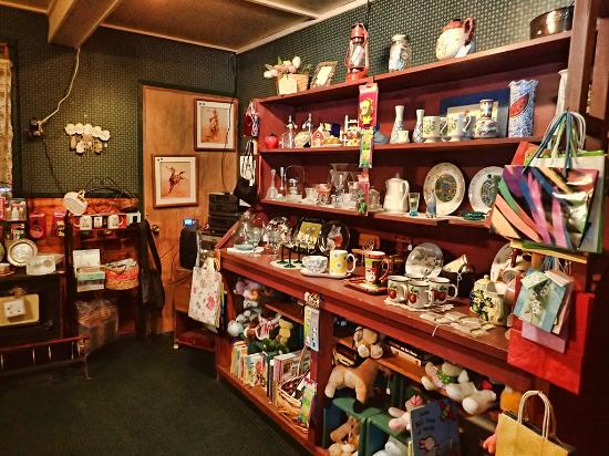 A well-stocked country gift shop adjacent to the Flyaway Restaurant at Summer Lake